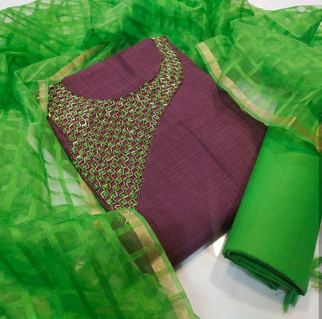 Chanderi Net Dress Material