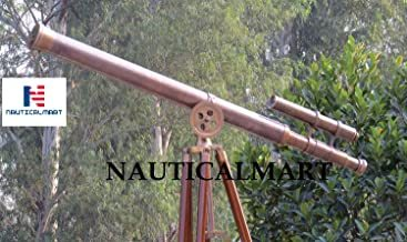 Nautical Copper Antique Griffith Astro Floor Standing Telescope with Tripod Stand 64