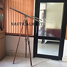 NauticalMart Solid Brass Griffith Astro Nautical Telescope with Tripod Stand 64