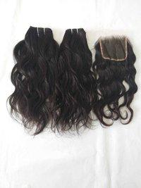 Single Donor Raw Indian Wavy Hair Bundles,Remy Wavy Human Hair