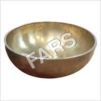 Golden Dull Large Singing Bowl