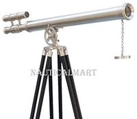 NauticalMart NM010892A Floor Standing Brushed Nickel Griffith Astro Telescope 65