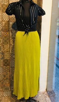 Designer Top with long skirt