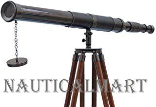 NauticalMart Nautical Floor Oil Rubbed Bronze Harbor Master Standing Vintage Telescope, Black