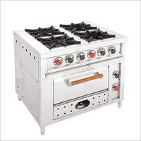 Continental Four Burner Range With oven
