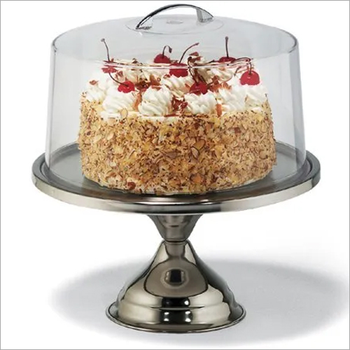 Cake Stand SS 33 cm with PC Lid