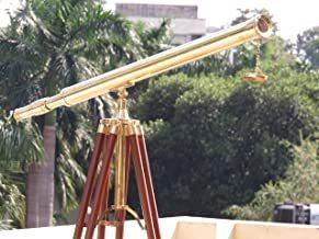 NAUTICALMART Nautical Brass Harbor Master Floor Standing Telescope 60
