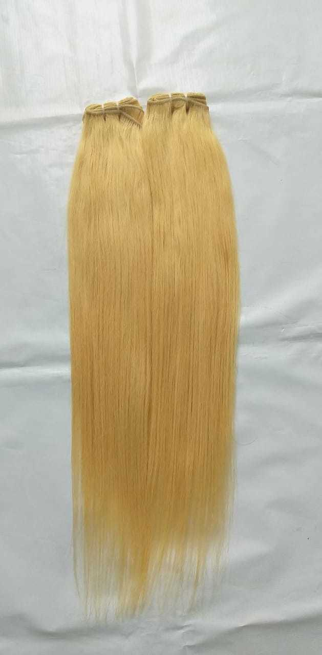 Blonde 613 straight hair