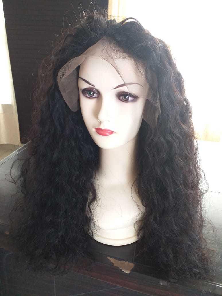 Curly Full Lace Wig 100% Human Hair Brazilian Virgin