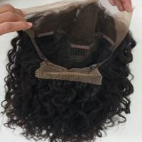 Indian Full lace wavy human hair wig