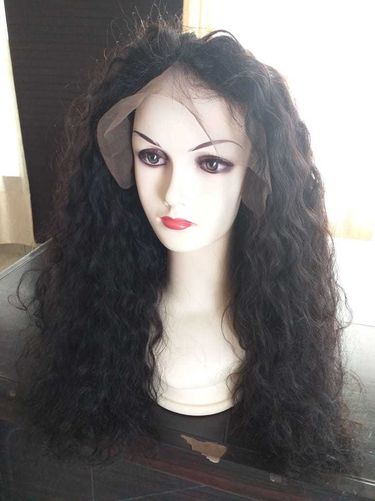 Curly Lace front Wig 100% Human Hair ,Virgin baby Hair Wig preplucked