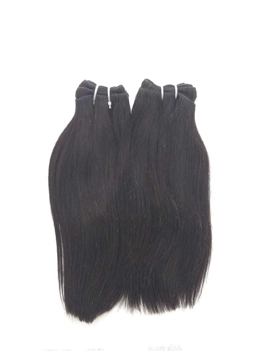 No Shedding No Tangle Thick End Straight Hair Weft Straight hair