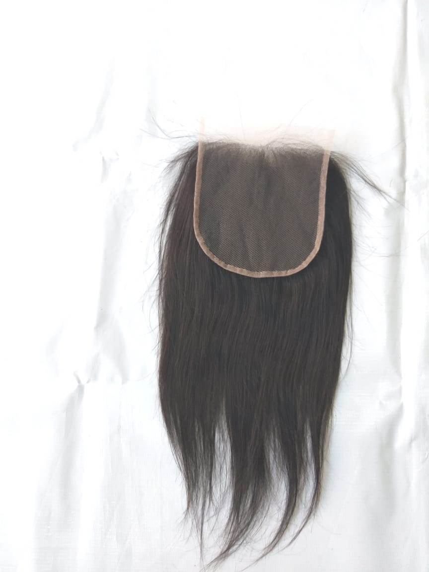 100% Virgin Human Hair Wholesale Price ,Indian Straight Hair Closure