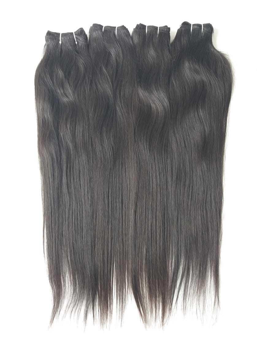 Cuticle Aligned Deep Curly Peruvian Human Hair Straight Human Hair
