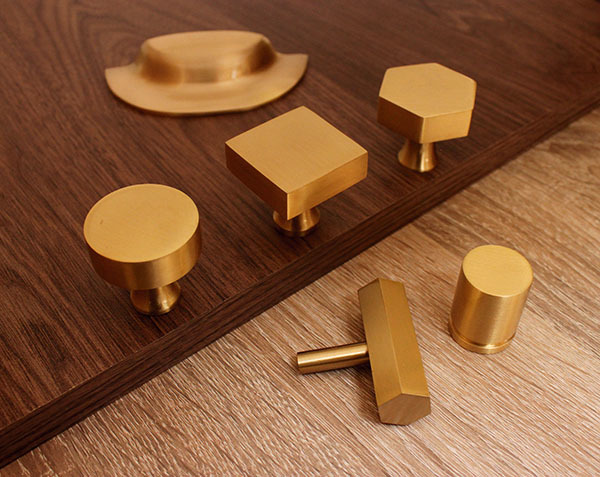 Brass Knobs - Round Gold Knob