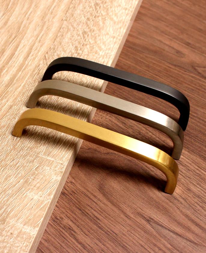 Brass Bar Handle - Black Bar Handle