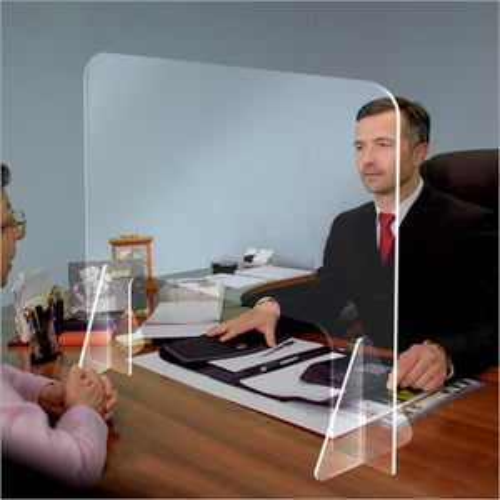 Counter Protective Plexiglass Acrylic Sneeze Guard Glass