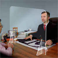 Counter Protective Plexiglass Acrylic Sneeze Guard Glass
