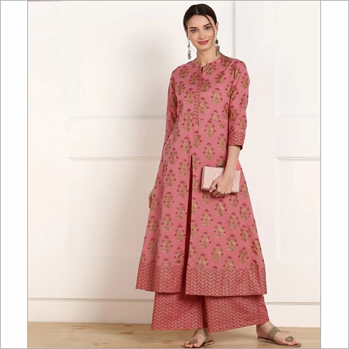 Long Kurti With Plazzo Set