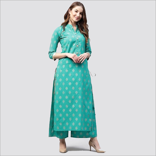 Long Kurti With Plazzo