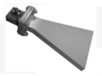 Pyramid horn lens antenna