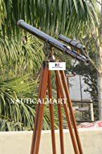 Nautical Oil Rubber Bronze Griffith Astro Double Barrel Telescope 50