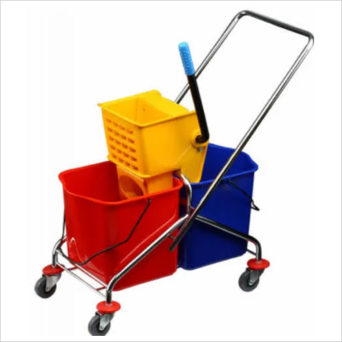 Double Bucket Mop Trolley (SS Handle)