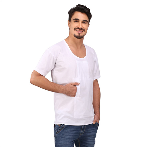 Gents Pocket Rns White Vest
