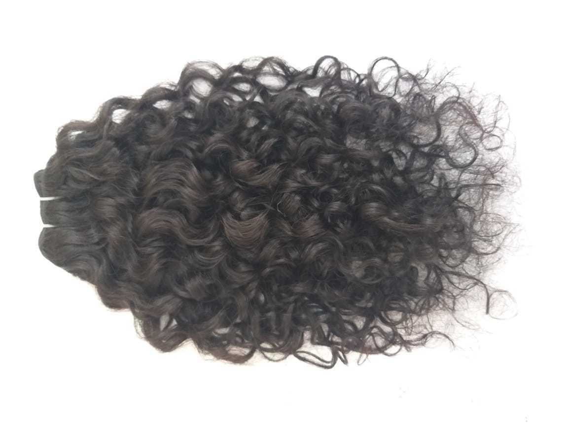 100% virgin curly hair, pure unprocessed human hair
