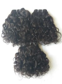100% virgin curly hair, pure unprocessed human hair