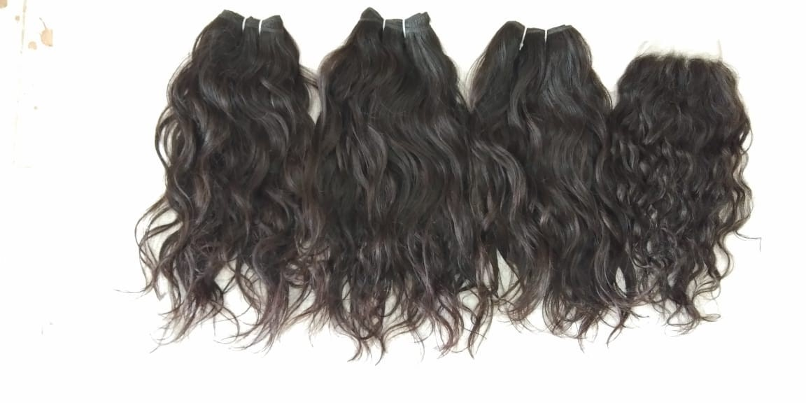 Temple Donated Raw Wavy Hair