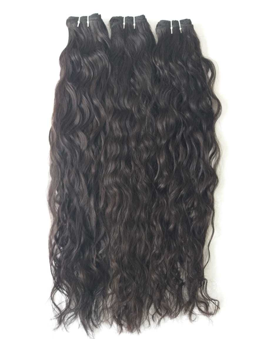 Temple Donated Raw Wavy Hair