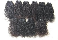 100% Human Hair Extensions Natural Color Curly Indian Hair