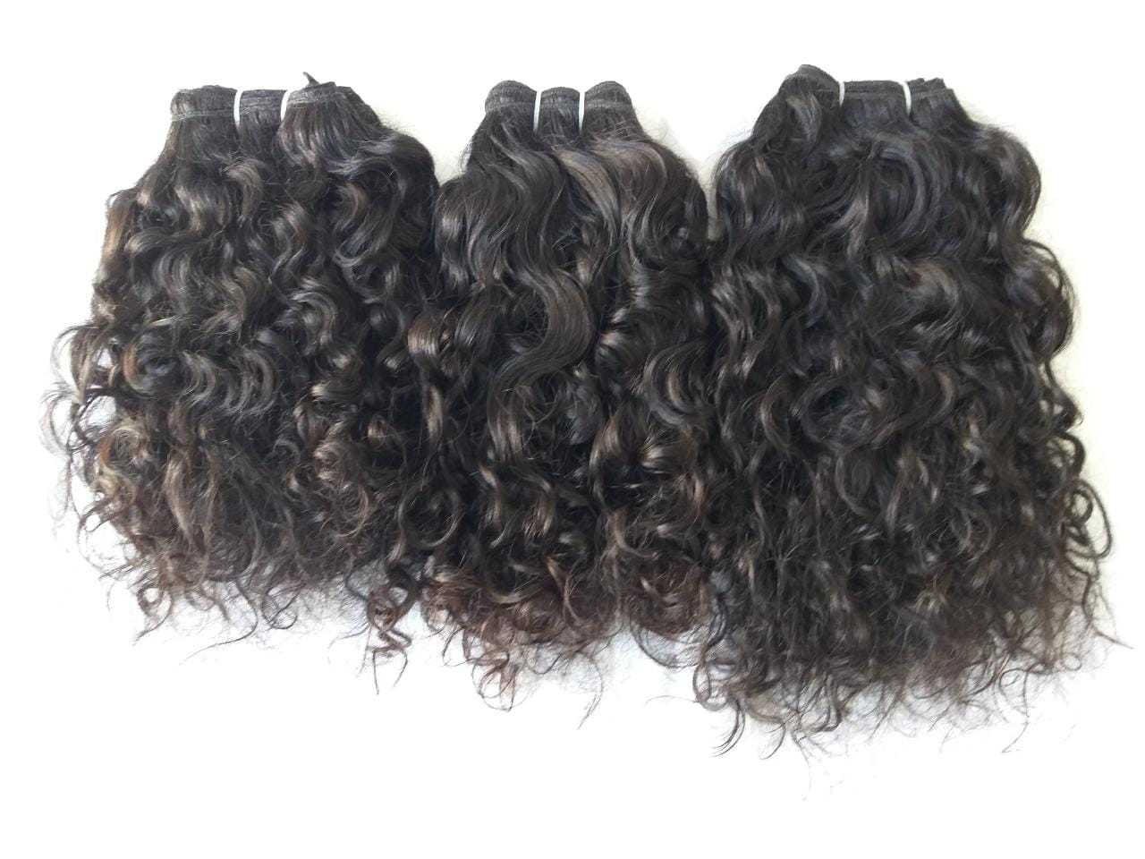 Wholesale 100% Indian human hair Remy Raw Curly Hair