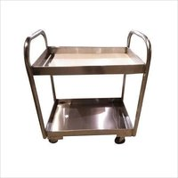 2 LAYER BAR SERVICE TROLLEY SMALL (SS)