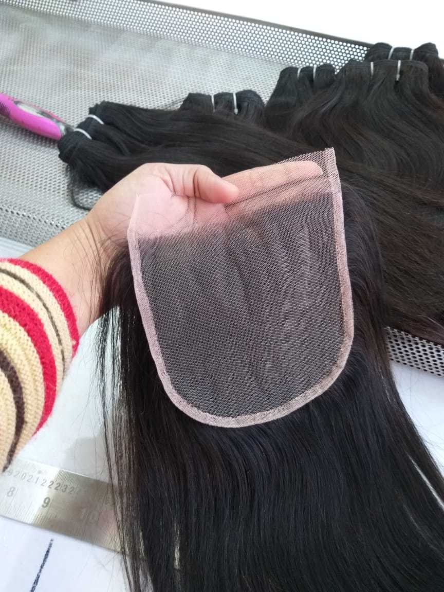 100% Human Hair Closure Jerry Curly 8a 4*4 Raw Curly Hair Closure