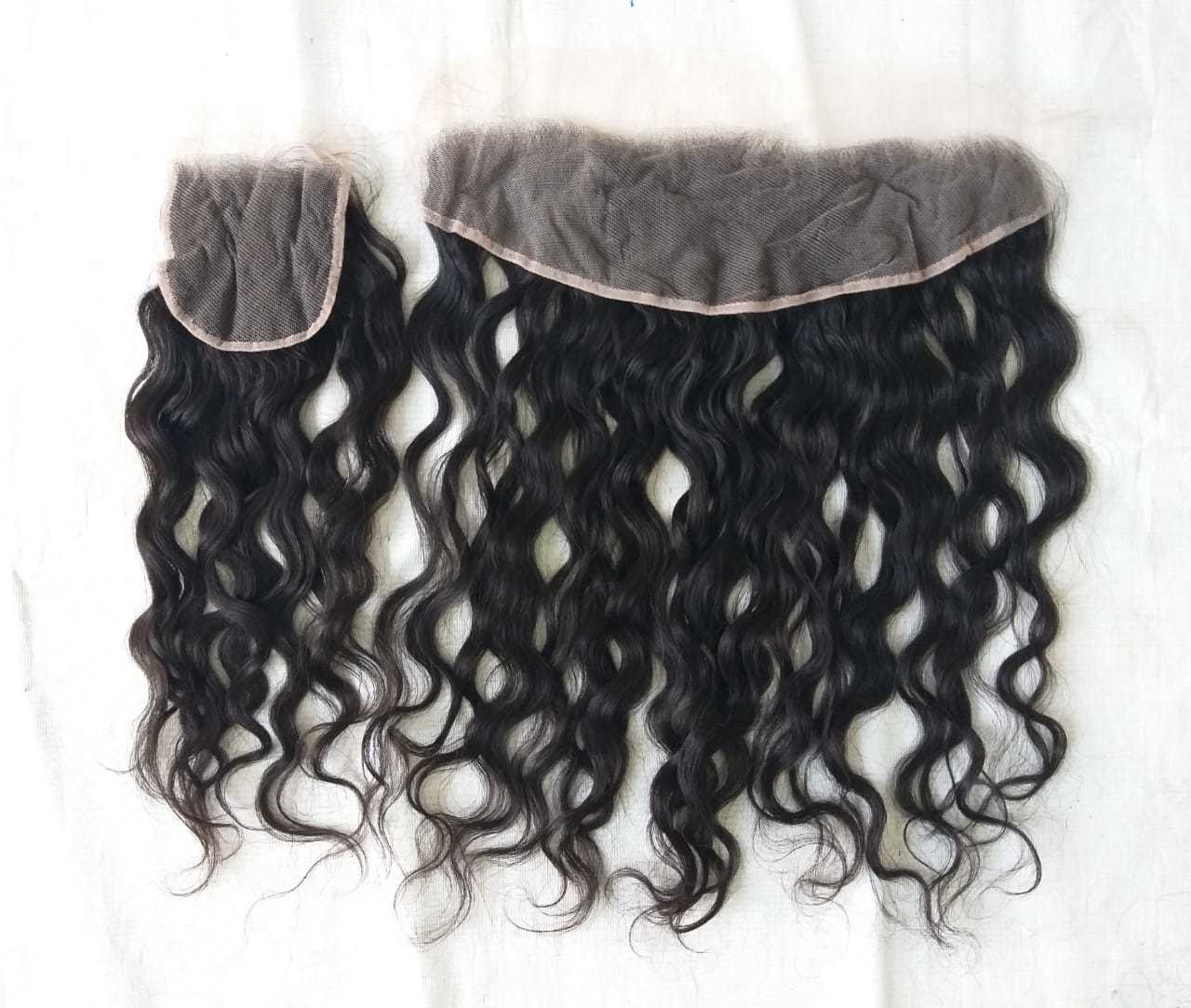 Transparent Swis Lace Closure 4x4 pre Plucked with Indian WavyLace Closure
