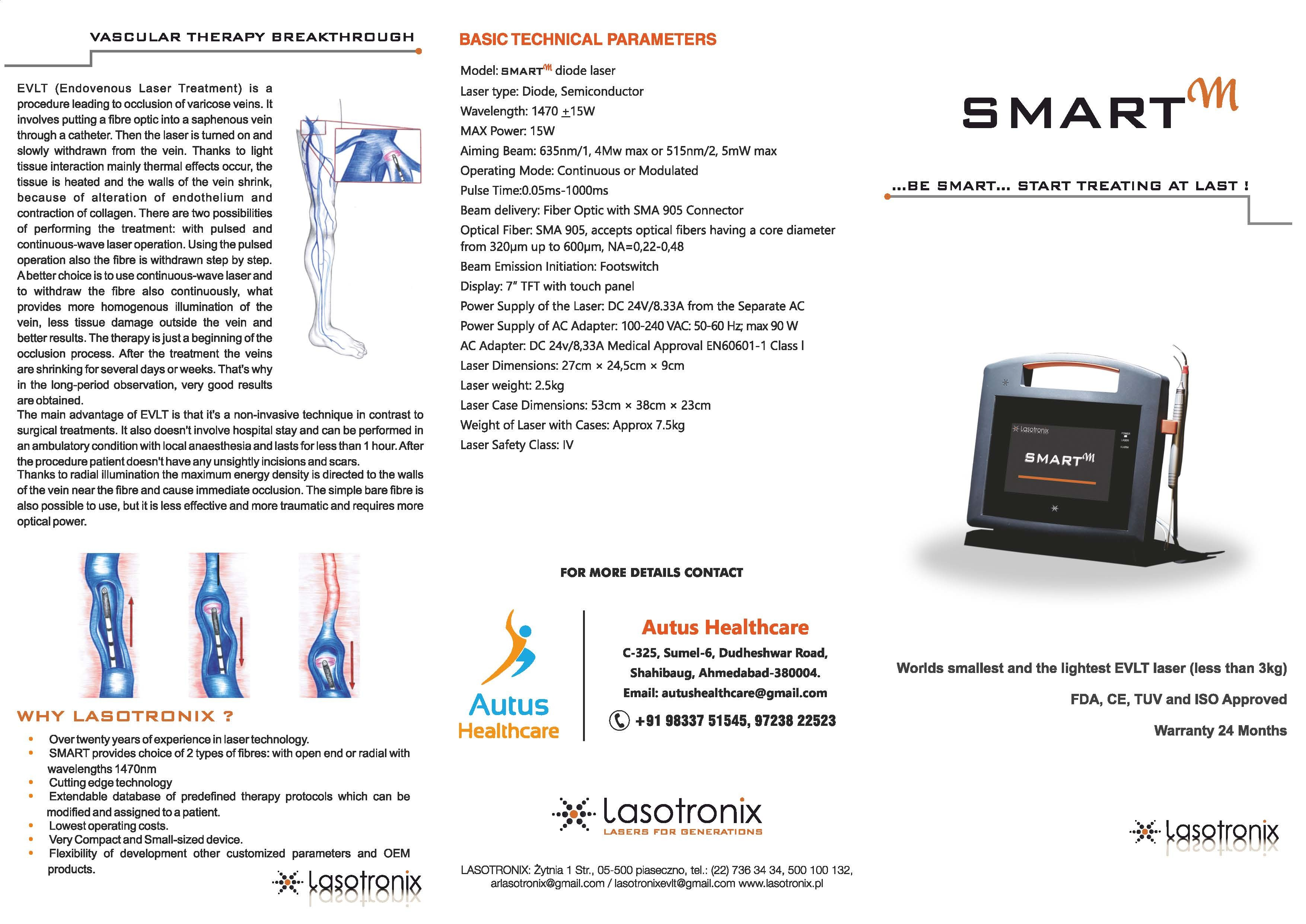 Lasotronix Laser For VARICOSE VEIN 1470nm/15W, Usage: Hospital