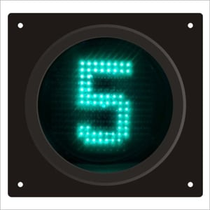 Polycarbonat Animated Pedestrian Countdown Timer