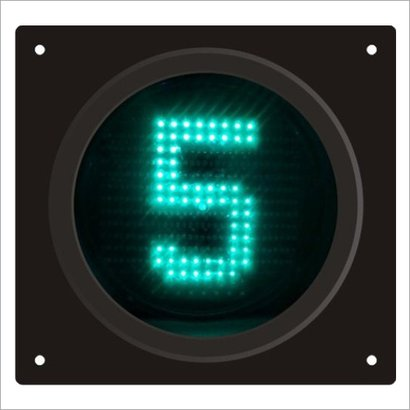 Green Polycarbonat Animated Pedestrian Countdown Timer