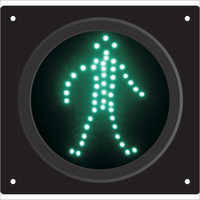 230V Pedestrian Traffic Green Light