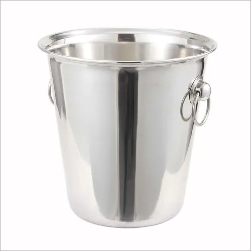 Wine Bucket with Ring Handle SS 22 x 21 cm