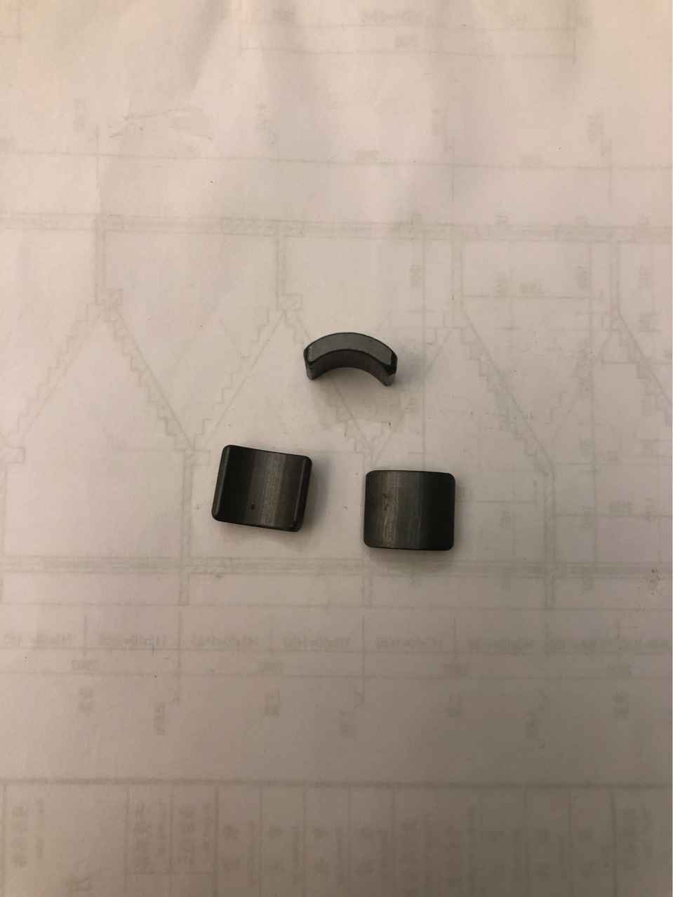 Ferrite Segment Magnet for Hall Motor