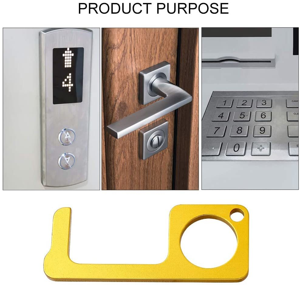 N-Gal Zero Touch Contactless Handle Tools Plastic Door Opening & Button Press Safety Equipment