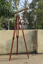 Solid Brass Floor Standing Telescope with Wooden Tripod Stand - Gifts - Gift by Nauticalmart