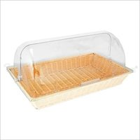 Bread Basket PP Ivory with PC Roll Top Cover Rect. 1/1
