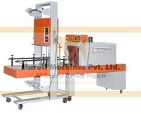 semi auto bulk shrink wrapping machine.