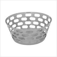 Bread Basket SS Oval Hole 20 cm dia. Ht 5cm & 10 cm