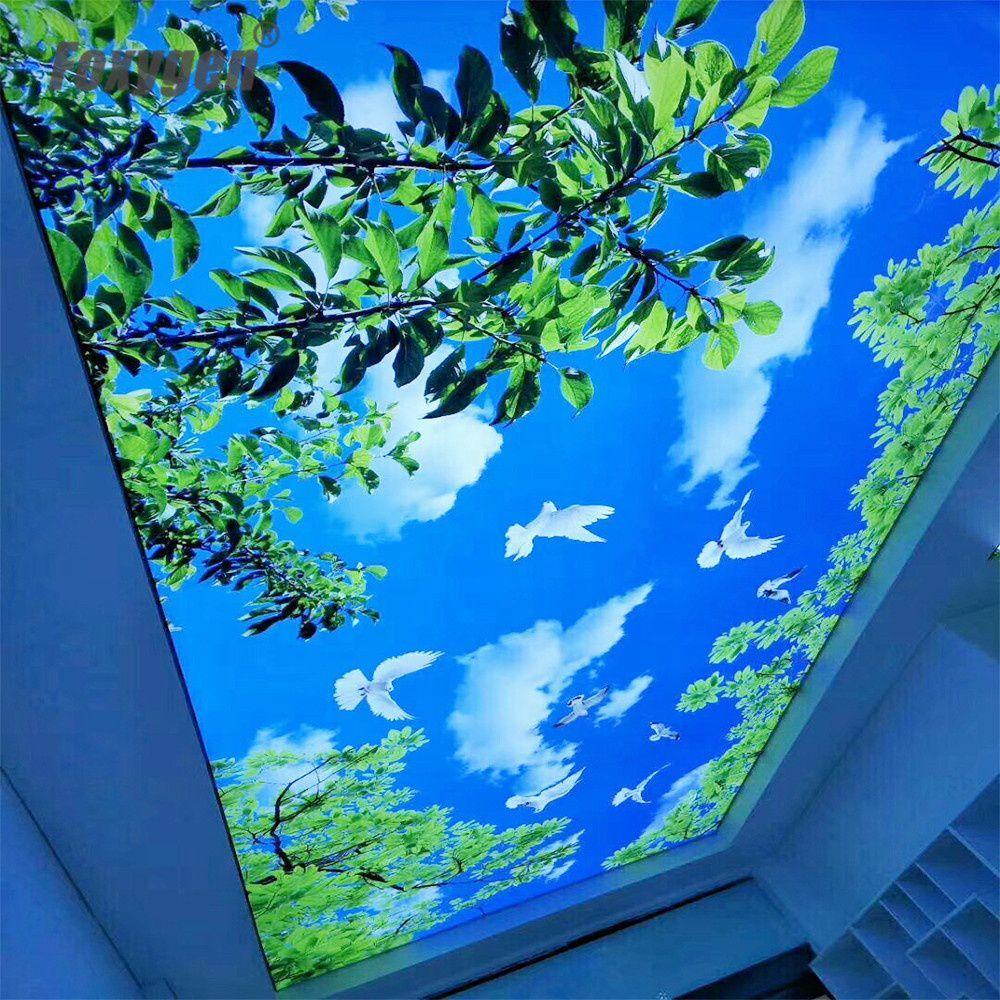 Shanghai Foxygen PVC stretch ceiling texture film LED Light Price buy online DIY Night sky design popular sale in Mumbai