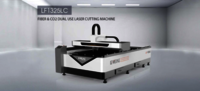 LF1325LC Fiber and CO2 Dual Use Laser Cutting Machine